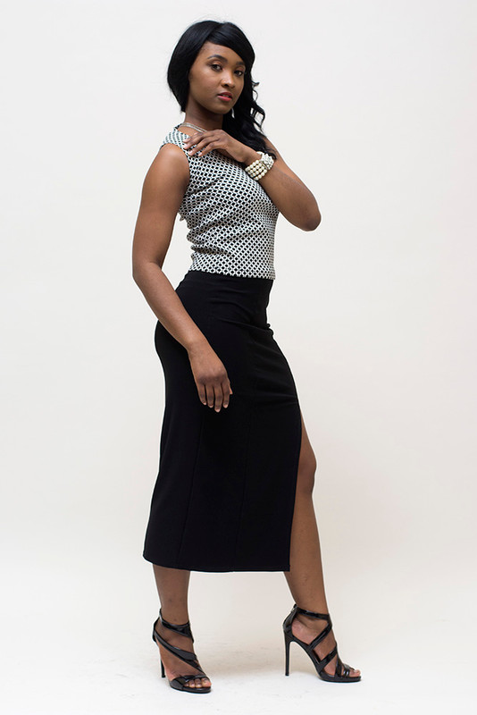 Match this beautiful skirt with the BePear Jacquard top for a spectacular look!