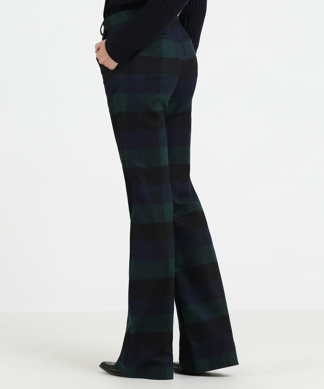 Women's Stretch Wool Bootcut Pants - John Rich & Bros.