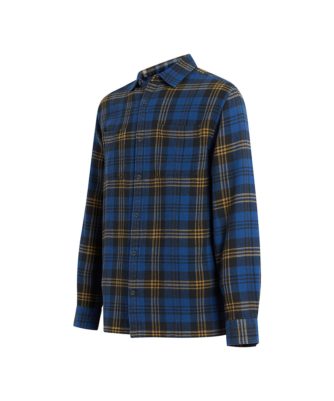 Men's Dellaro Waffle Plaid Shirt - 100% Organic Cotton