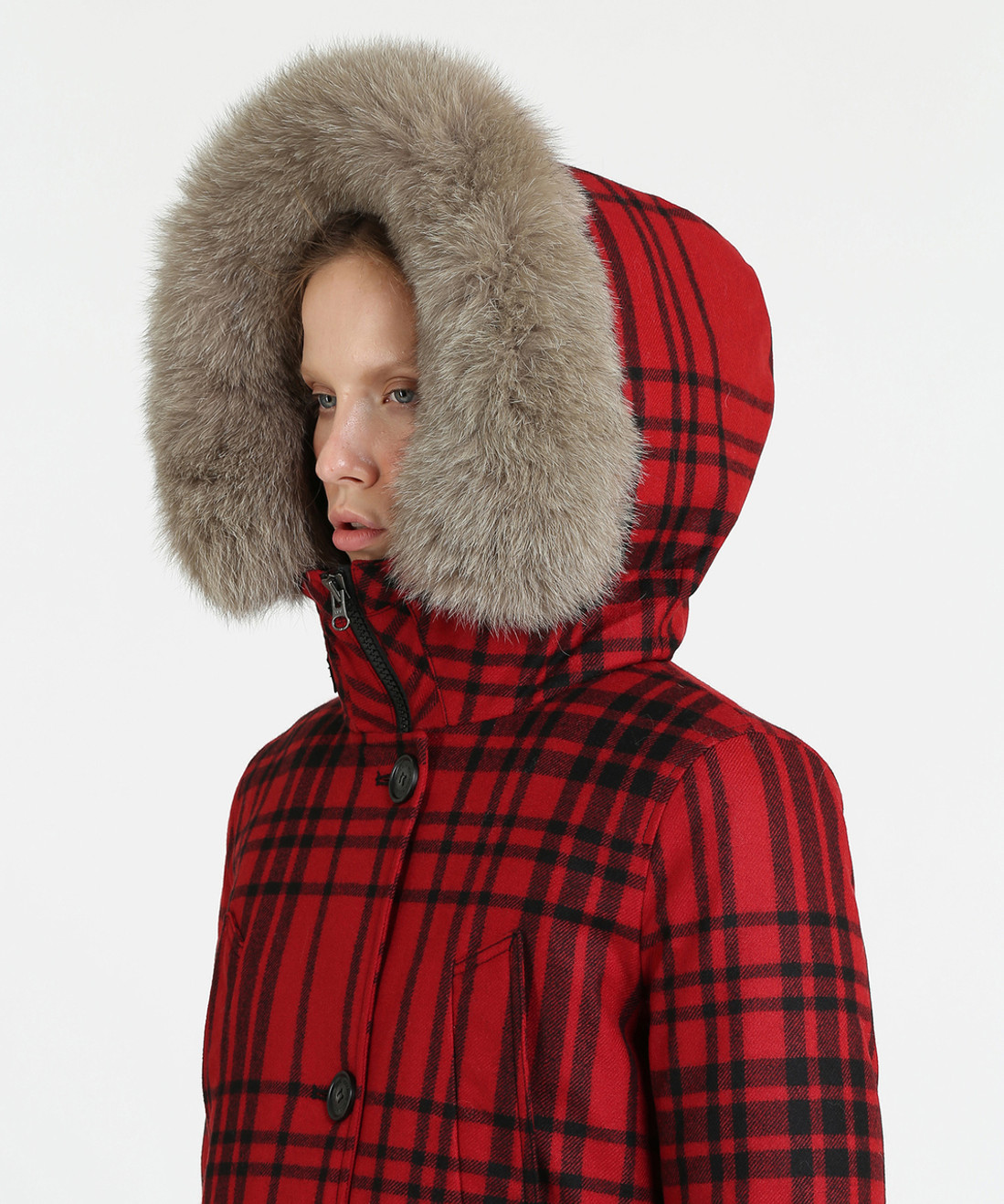 Women's Loro Piana Arctic Down Parka High Collar - John Rich & Bros.