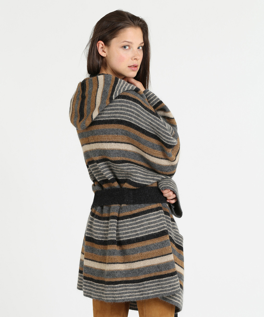 Women's Striped Coat - Iconic Pack