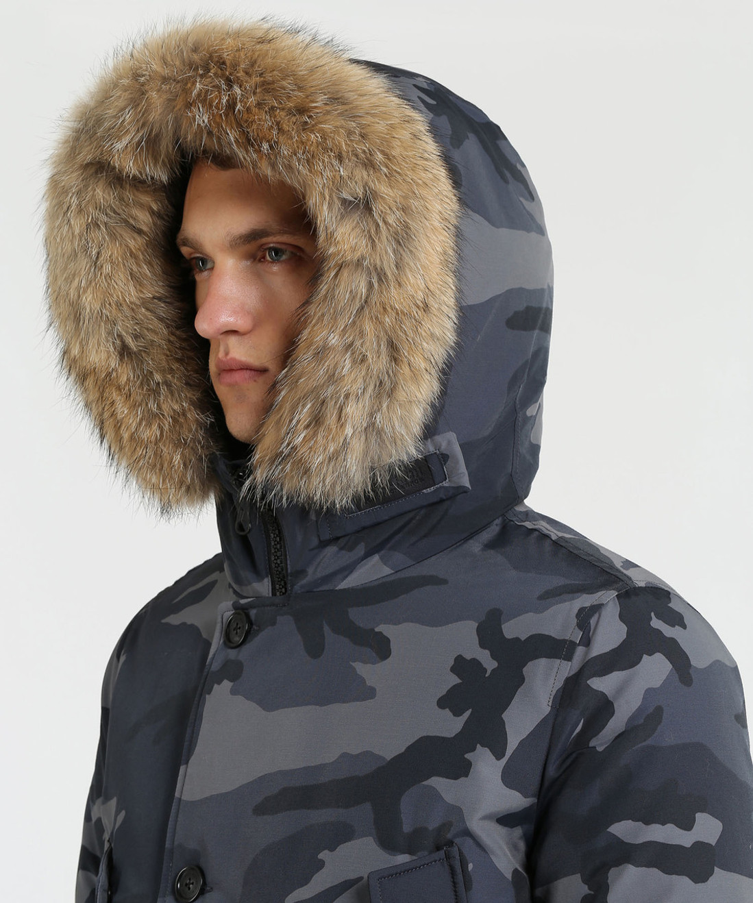 Men's Camo Arctic Down Parka High Collar (HC) - John Rich & Bros.