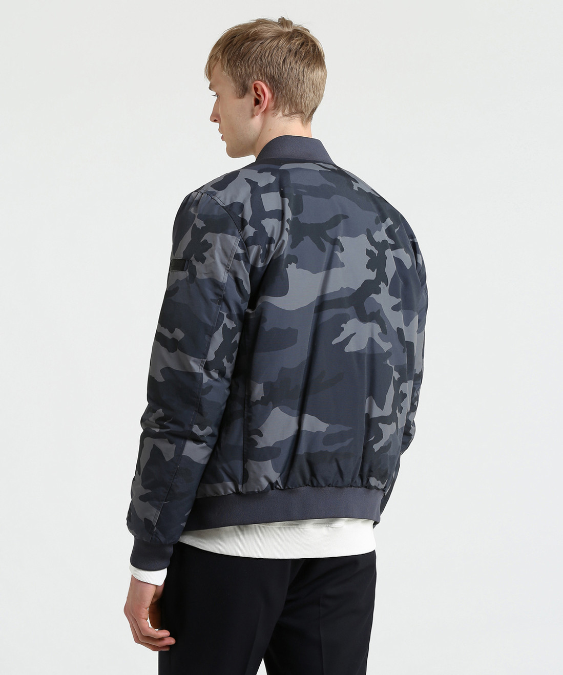 Men's Camo Reversible Bomber Down Jacket - John Rich & Bros.