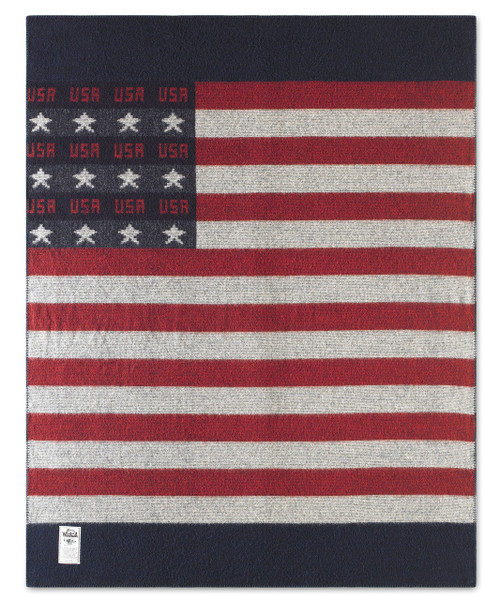 "Freedom Throw Wool Blanket (60""x72"")"