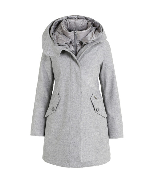 Women's Wool Long Military Down Parka - John Rich & Bros.