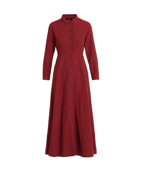 Women's Flannel Check Dress - John Rich & Bros.