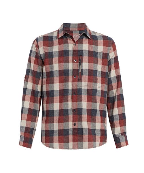 Men's Any Point Stretch Flannel Shirt - Buffalo Check Plaid