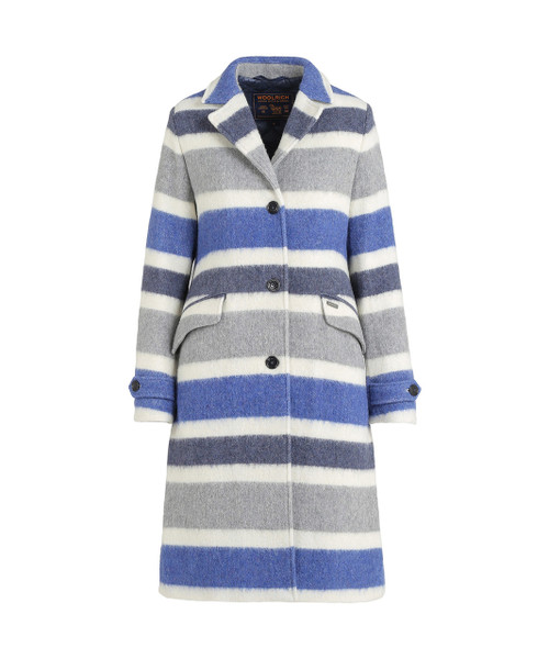 Women's Cozy Wool Striped Coat - John Rich & Bros.