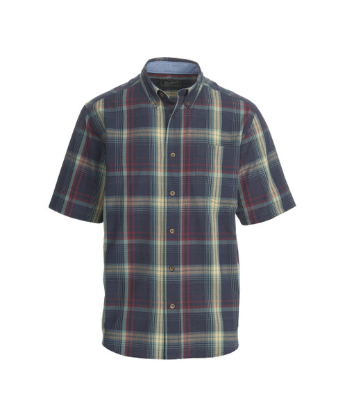 Men's Juniata Short Sleeve Plaid Shirt - 100% Cotton
