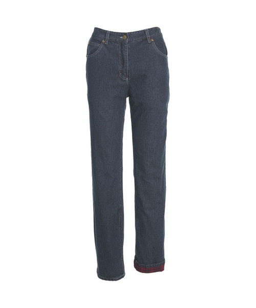 Women's Flannel-Lined Five-Pocket Jeans - Curved Fit