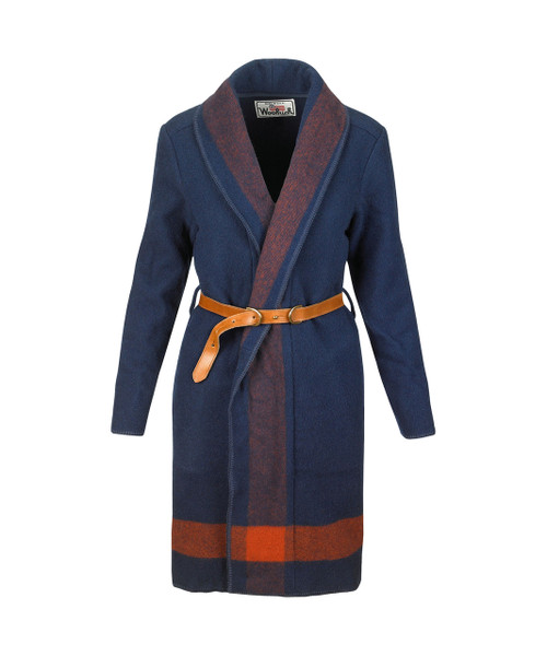 Women's Wool Blanket Wrap Long Coat