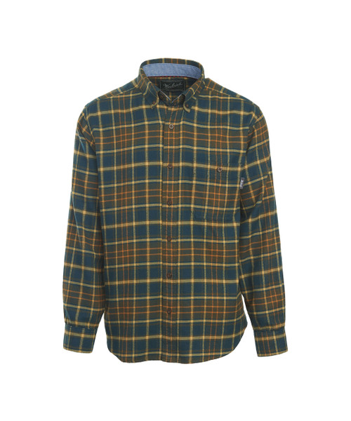 Men's Trout Run Plaid Flannel Shirt - 100% Cotton