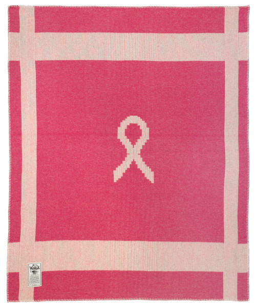 "Breast Cancer Awareness Wool Blanket (50""x60"")"
