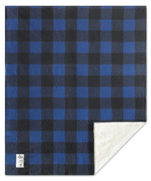 "Sherpa Rough Rider Buffalo Check Wool Blanket (50""x60"")"