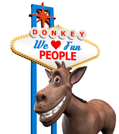 The Donkey loves fun people