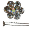 Cheap flower gem hair pin