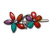 Flower gem and stone barrette.