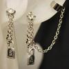 Cheap lock and key ear cuff earring set
