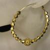 Gold diamond bead earring