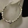 Silver diamond bead earring