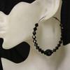 Black diamond bead earring