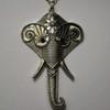 Dark silver elephant necklaces