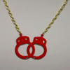 Red handcuff necklace