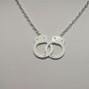 White handcuff necklace