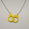 Yellow handcuff necklace