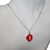 Red kiss necklace