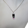 Pink lipstick necklace set