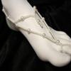 White pearl barefoot sandal