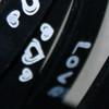 Silicone heart bracelet