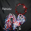 Patriotic red white and blue halos.  Great for fourth of July or other American event.