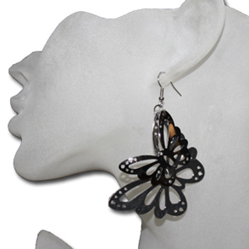 Costume butterfly earrings at cheap wholesale prices.