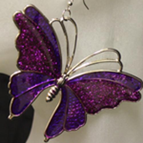 Big butterfly earrings.