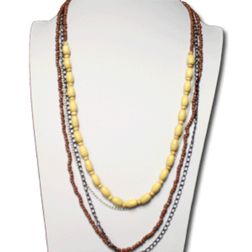 Fashion bohemian necklace and earring set