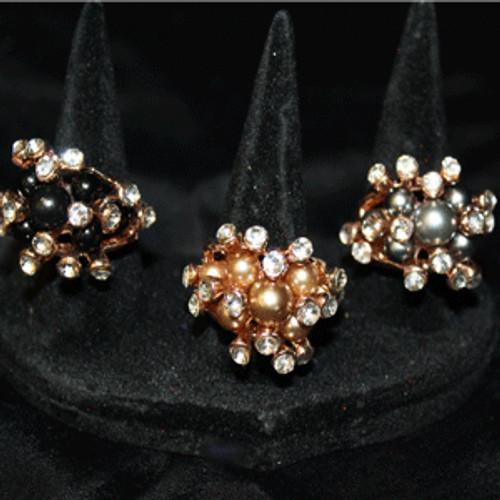 Pearl cocktail rings