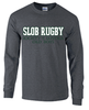 SLOB Rugby Tee, Dark Heather Gray