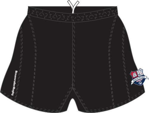DeSales SRS Performance Rugby Shorts, Black