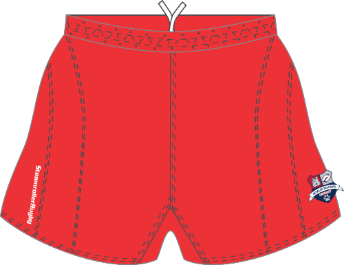 DeSales Rugby Shorts, Red
