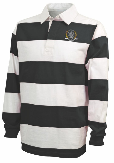 Faded Blacks Rugby Stripe Polo