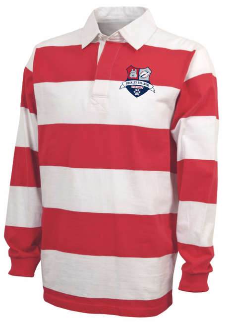 DeSales Rugby Stripe Polo, Red/White