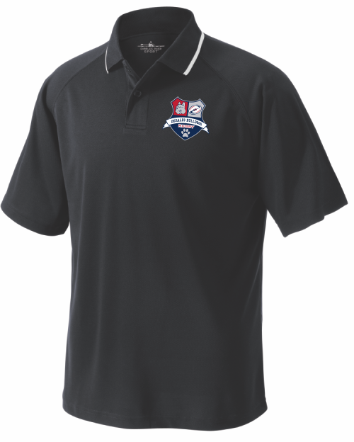 DeSales Rugby Performance Polo, Black