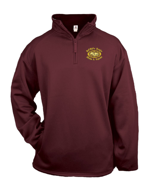 Bloomsburg Rugby Alumni PolyStretch Pullover, Maroon