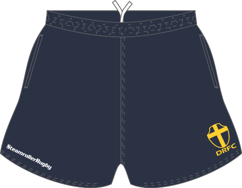 Downingtown SRS Pocketed Performance Rugby Shorts, Navy