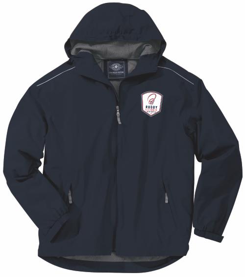 Rugby Illinois Rain Jacket, Navy Blue