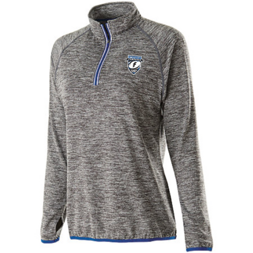 Tempests 1/4-Zip Performance Fleece, Carbon Heather & Royal