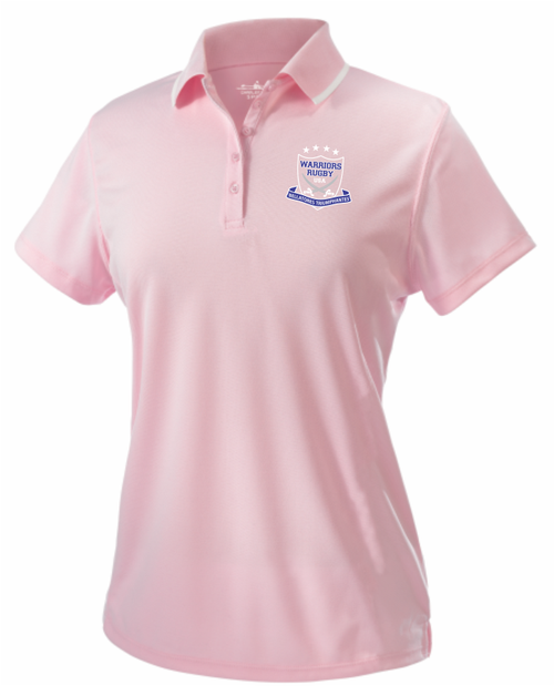 Warriors Ladies-Cut Performance Polo, Pink
