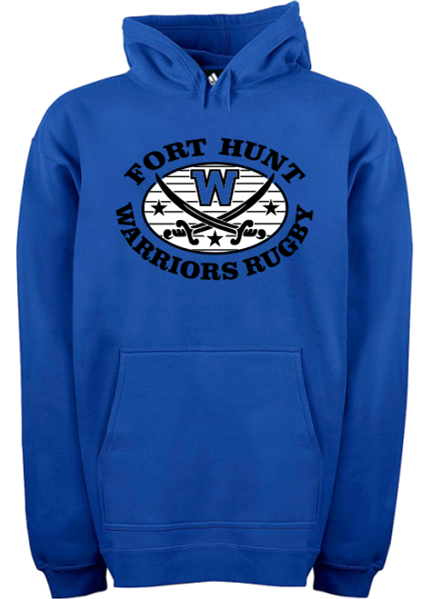 Warriors Rugby Hoodie, Royal Blue